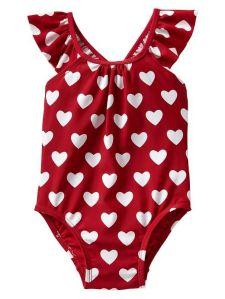 Heart bathing suit